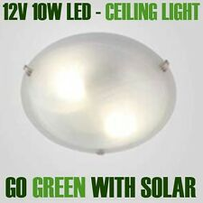 SOLAR HOME Alabaster Glass Ceiling light with fitting. 12V DC 10W CW LED fitted.