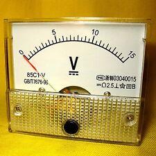 85c1 Fine Tuning Dial Analog Volt Panel Meter Gauge DC 0-15v Y3s3 P1y1