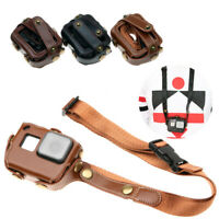 For GoPro Hero 7 6 5 Camera Leather Case Protective Cover Bag Neck/Waist Strap