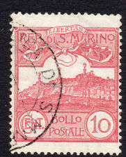 San Marino 10 Cent Stamp c1903-25 Used (637)