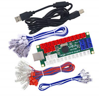 SJ@JX Arcade DIY Kit LED USB Encoder Board Zero Delay Arcade Controller Joystick