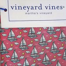 Vineyard Vines SAILBOAT & SUN Pink Boys Necktie Silk NWT $49.50 USA Shep & Ian