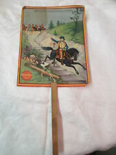 Antique paper hand Fan Fire Screen Putnam Fadeless Dyes General escapes British