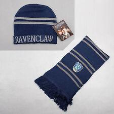 Harry Potter Ravenclaw Thickened Schal/Halstuch Mütze Set Kostüm Cosplay