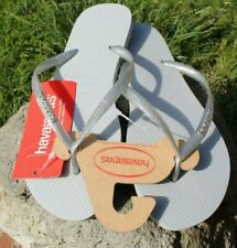 Havaianas Glitter Flip Flops size 10.5, 11-12 gray gel sandals Summer offer New
