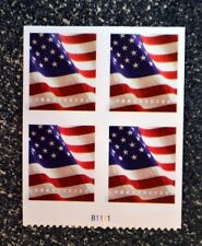2017USA #5160a Forever U.S. Flag US - Block of 4 Plate Number From Booklet of 10