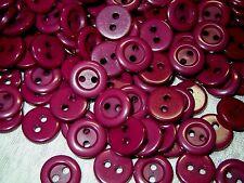 """Vintage lot of 24 Buttons Purple Plum Berry Color Buttons 12 mm (1/2"""")"""