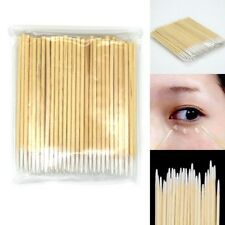 100PCS Cotton Swabs Pointed Swab Applicator Q-tips Wooden Sticks New Cotton buds
