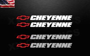 2 Decal Stickers For Chevy CHEYENNE Chevrolet Bowtie Sticker