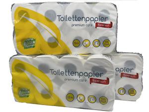 24 Rollen Toilettenpapier 4-lagig 165 Blatt 100% Zellstoff Klopapier Weich Weiß