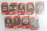 Christmas Jingles 9 Plastic Canvas Kits Magnets Ornaments Pins Yarn Crafts