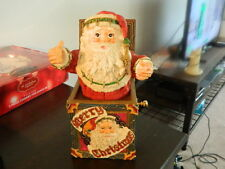 House of Lloyd 1994 Santa Claus Jack In The Box Christmas Figurine Statue Decor