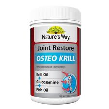 NATURE'S WAY JOINT RESTORE OSTEO KRILL 50 CAPSULES GLUCOSAMINE FISH OIL NATURES