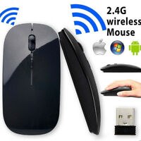 Slim Wireless  USB 2.4 GHz Optical Scroll Mouse Mice For Computer PC Laptop Mac