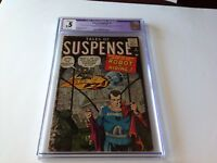 TALES OF SUSPENSE 2 CGC .5 ROBOT IN HIDING STEVE DITKO HARD TO FIND ATLAS COMICS