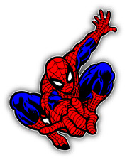 Spiderman Cobweb Cartoon Car Bumper Sticker Decal 4'' x 5''