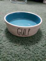 """Rae Dunn """"GULP"""" Small Cat Pet Food Water Dish"""
