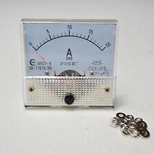 20a DC 0-20A 85C1 Analog AMP Panel Meter Gauge