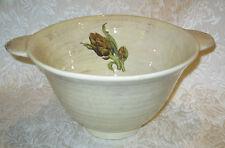 """IL NODO CERAMICHE Italian Rustic Bowl with Eggplant Motif ~ 8.5"""" x 6"""""""
