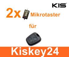 2x Ersatz Schlüssel Microtaster Mikrotaster Mikroschalter für PEUGEOT 206 306