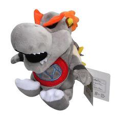 "Baby Dry Bowser Bones Koopa Super Mario Bros Plush Toy Stuffed Animal Grey 7"""