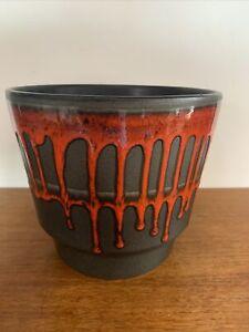 West German Pottery Planter Pot Retro 1960/70s