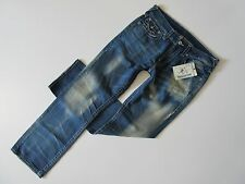 NWT True Religion Straight in Smokin Joe's Whiskered & Faded Jeans 34 x 34 $310