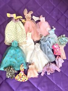 Vintage Barbie Clothes Lot Of Outfits - Jackets  Dresses - Tops - 1990s