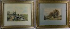 W. Jansen, zwei Aquarelle, original gerahmt, 1897