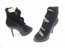 TONY BIANCO RUFFALO HIGH HEEL BLK TURIN/BL SUEDE STRETCH LADIES SHOES SIZE 8 NEW