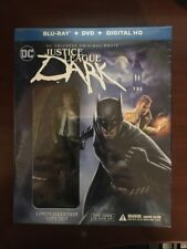 JUSTICE LEAGUE DARK Blu-ray + DVD Limited Edition Gift Set with Figurine