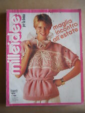 MILLEIDEE n°4 1982 - rivista di moda e lavori femminili  [C53]