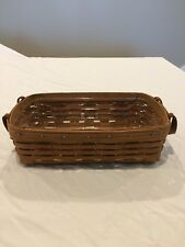 Longaberger 1987 Woven Traditions Basket With Protector Leather Signed By Tami