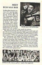 HOWDY DOODY 1953  MEET BUFFALO BOB FEATURE & PEANUT GALLERY