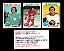 1975 TOPPS HOCKEY # 201 TO # 330 SELECT FROM OUR LIST