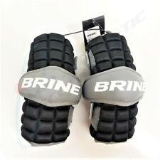Brine Clutch Lacrosse Arm Guard Adult Medium Black and Grey Cag15-Bkm
