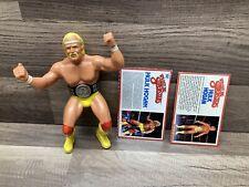 WWF LJN Hulk Hogan with Belt And 2 Bio Cards!! Vintage Titan Sports