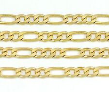 """10k Yellow Gold Figaro Chain Necklace 22""""(new,7.48g)#2475d"""