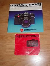 Leitz Leica R3 Instructions & Catalog