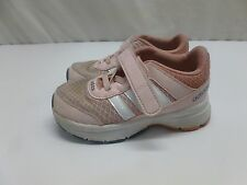 Little Toddler Baby Girls Kids Pink Adidas City Tennis Shoes Size 7 7K