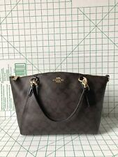 Coach F28989 Signature Small Kelsey light weight Satchel Bag Brown Black