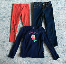 Girl's Lot of 3 Shirt Leggings & Jeans Size 5 Gymboree Cat & Jack