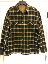 Men's Kuhl Flannel Long Sleeve Shirt XXLarge Green Plaid Pockets