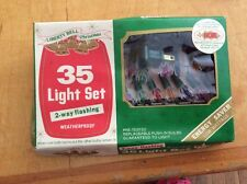 Vintage 35 Light 2 Way Flasher Light Set by Liberty Bell Christmas