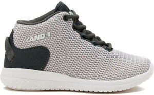 And1 Boy's B-Wylin [ Silver/Grey/White ] Basketball Shoes - D3013-BSVW