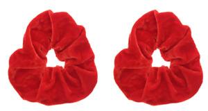 Set Of 2 Large Soft Velvet Strong Hair Bands Scrunchies Ladies Girl Bobble Gift