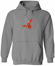 Unisex Pullover Hoodie Sweater Mens Women Gift Print Crab Mermaid Sebastian