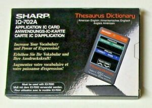 SHARP IQ-702A THESAURUS DICTIONARY - Application IC Card with IQ-7000 Series NEW