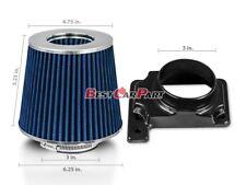 BLUE Mass Air Flow Sensor Intake MAF Adapter + Filter 95-99 Eclipse GST GSX 2.0L
