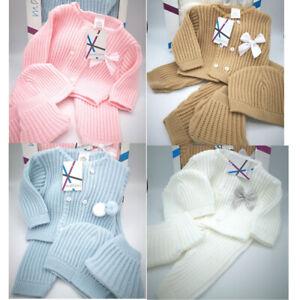 BABY GIRL BOY SPANISH KNITTED OUTFIT WARM UNISEX GIFT PRAM SET GIRLS BOYS 0-3M